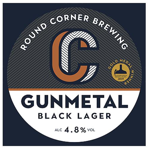 Round Corner Gunmetal Black Lager