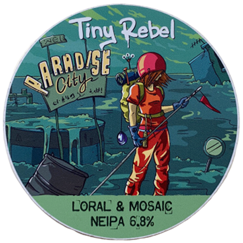 Tiny Rebel Brewery Paradise City Loral & Mosaic NEIPA