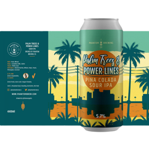 Phantom Brewing Palm Trees and Power Lines