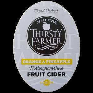 Thirsty Farmer Nottinghamshire Orange and Pineapple Cider