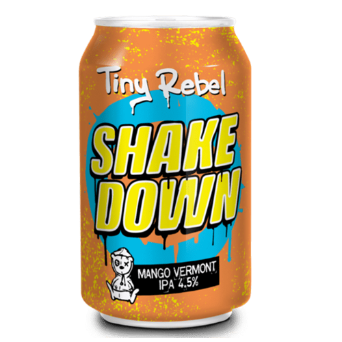 Tiny Rebel Brewery Shake Down Cans